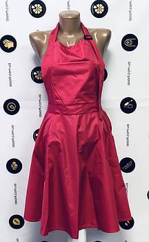 Фартук-сарафан для мастера, парикмахера ярко-розовый, размер L