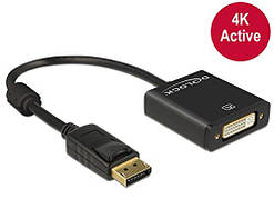 Адаптер Delock Displayport 1.2 male to DVI female 4K Active