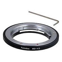Адаптер Fotodiox MD-43 для объективов Minolta Rokkor (SR/MD/MC) к незеркальным камерам Olympus 4/3, фото 1