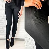 Р 42-50 Утепленные джинсовые лосины на флисе Батал 20746-1, фото 1
