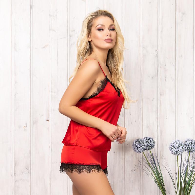 Комплект-пижама женский красный: майка и шорты New Fashion SA-140red