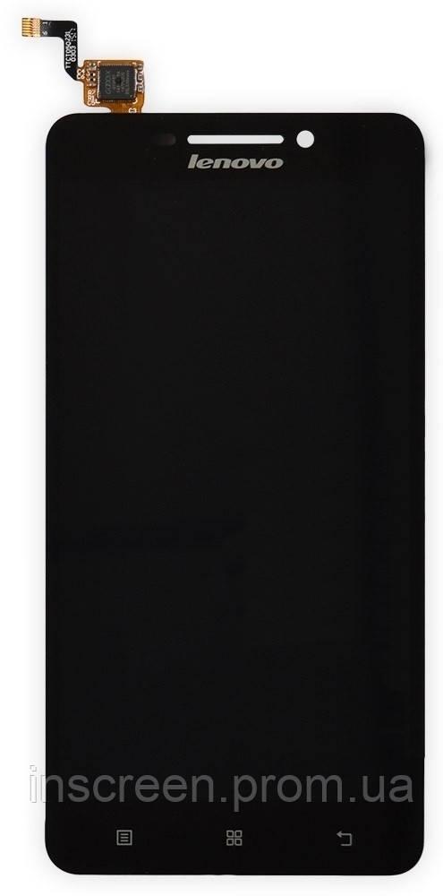 Экран (дисплей) Lenovo A5000 с тачскрином (сенсором) черный