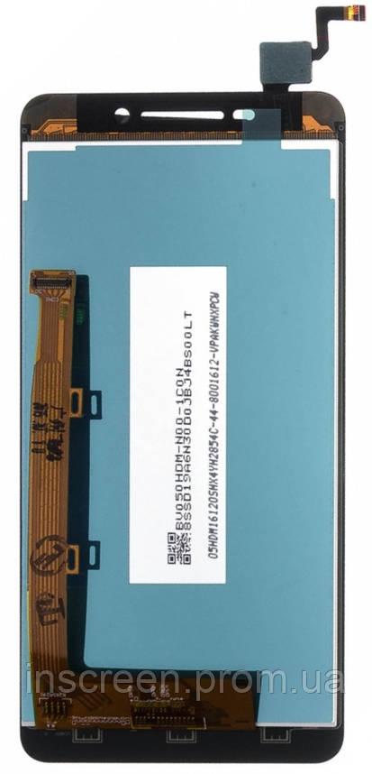 Экран (дисплей) Lenovo A5000 с тачскрином (сенсором) черный, фото 2