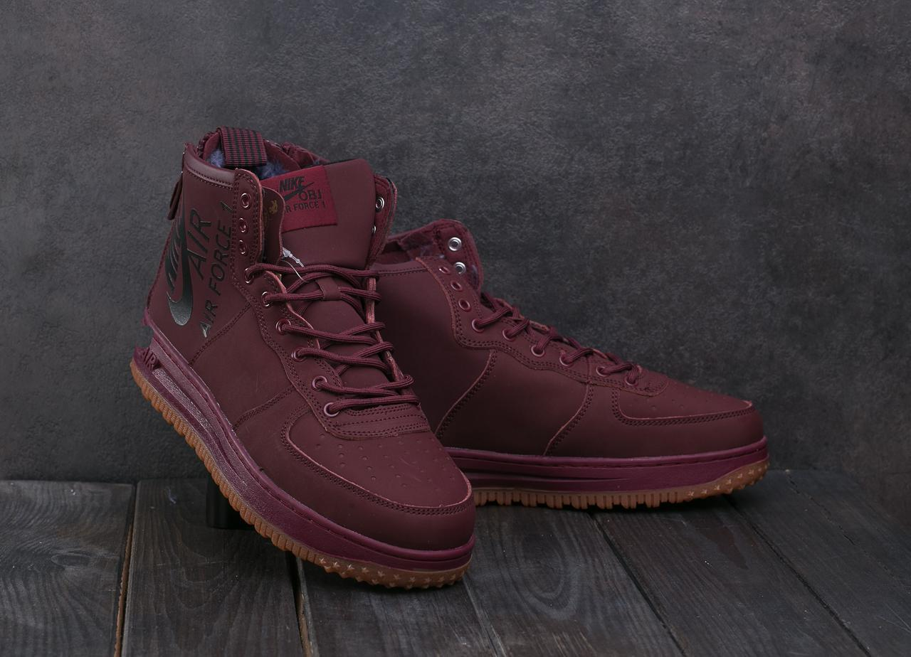 Мужские кроссовки искусственная кожа зимние бордовые Ditof MA 1060 -6