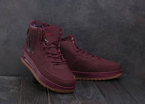 Мужские кроссовки искусственная кожа зимние бордовые Ditof MA 1060 -6, фото 2