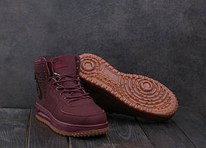 Мужские кроссовки искусственная кожа зимние бордовые Ditof MA 1060 -6, фото 3