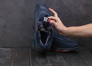Мужские кроссовки искусственная кожа зимние синие Ditof A 1897 -16, фото 2