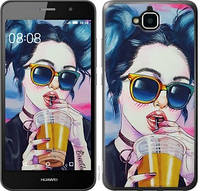 Чехол EndorPhone для Huawei Y6 Pro Арт-девушка в очках 3994m-355, КОД: 737059