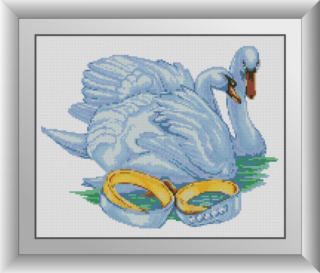 Набор алмазной мозаики Лебеди любви Dream Art 30902 (34 x 42 см)