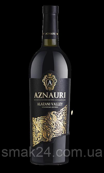 Вино красное полусладкое Алазанская долина Aznauri  1.5 л Грузия