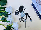 Топпери Франція, Топпер дівчина з ейфелевою вежею, ейфелева вежа на торт, топпер велосипед,Топпер Paris, фото 9
