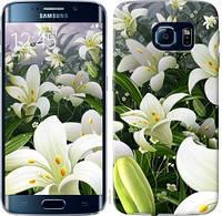 Чехол EndorPhone на Samsung Galaxy S6 Edge G925F Белые лилии 2686c-83, КОД: 933569