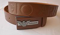 Кожаный мужской ремень Armani.