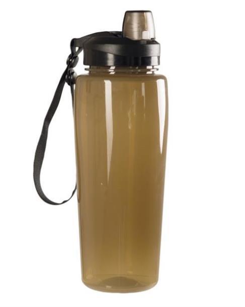 Бутылка для воды (фляга) 'MIL-TEC SMOKE BOTTLE TRANSPARENT' (600 ml)   (14519705)