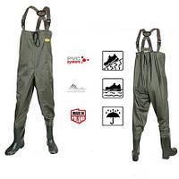 Вейдерсы забродный полукомбинезон костюм, сапоги для рыбалки Lemigo PCV 997 заброды размеры: 41-48 Польша