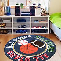Коврик для детской комнаты Игра с мячом 100 х 100 см Berni