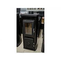 Отопительно варочная печь камин  VERONA TOP - черная ( каминофен, современная буржуйка ), фото 1