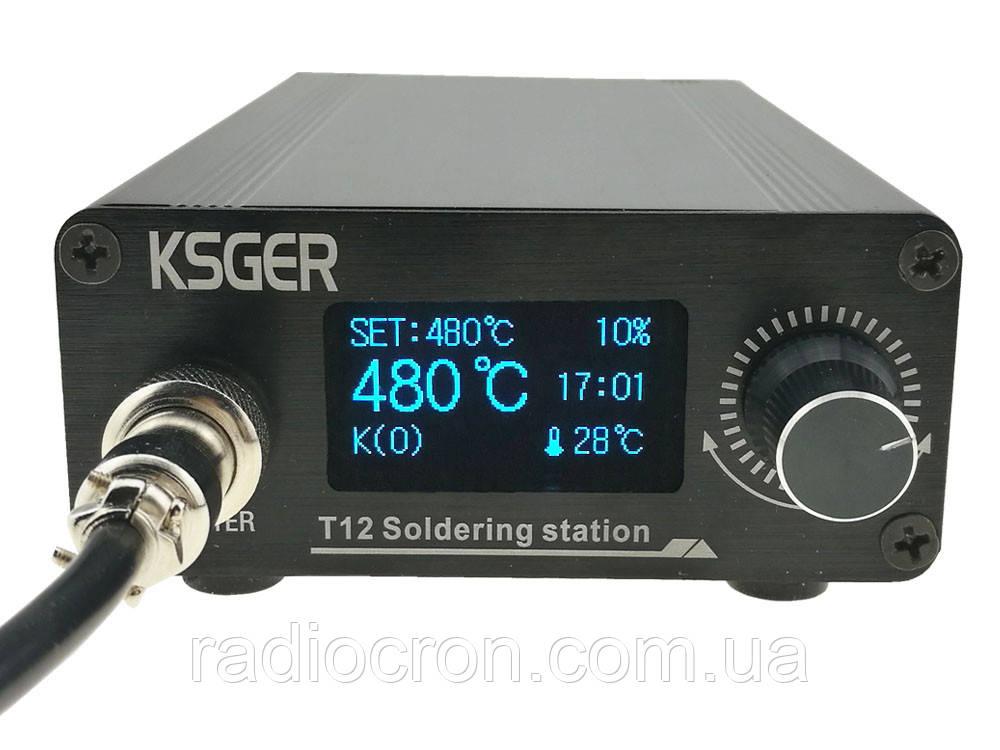 Паяльная станция T12, STM32 V2.01 OLED 1.3, 120Вт