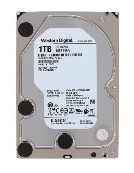 """Жесткий диск 3.5"""" 1TB Western Digital DC HA210 (HUS722T1TALA604)"""