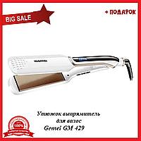 Утюжок выпрямитель для волос Gemei GM 429, керамическая плойка для выравнивания волос с дисплеем