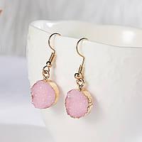 """Серьги """"Под камень"""" /бижутерия/ цвет золото, розовый, фото 1"""
