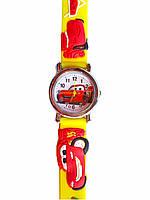 Часы детские Cars Тачки Желтые C-180, КОД: 111980