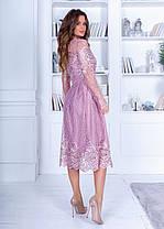 Платье миди кружево в расцветках 74207, фото 2