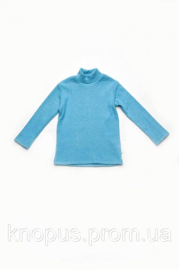 Гольф детский,  застежка-кнопки на плече, бирюзовый, Модный карапуз, размеры  86-104
