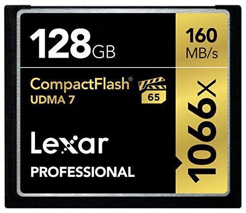 Карта памяти Lexar 128 GB CompactFlash 1066x Professional LCF128CRBEU1066