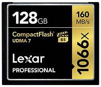 Карта памяти Lexar 128 GB CompactFlash 1066x Professional LCF128CRBEU1066, фото 1