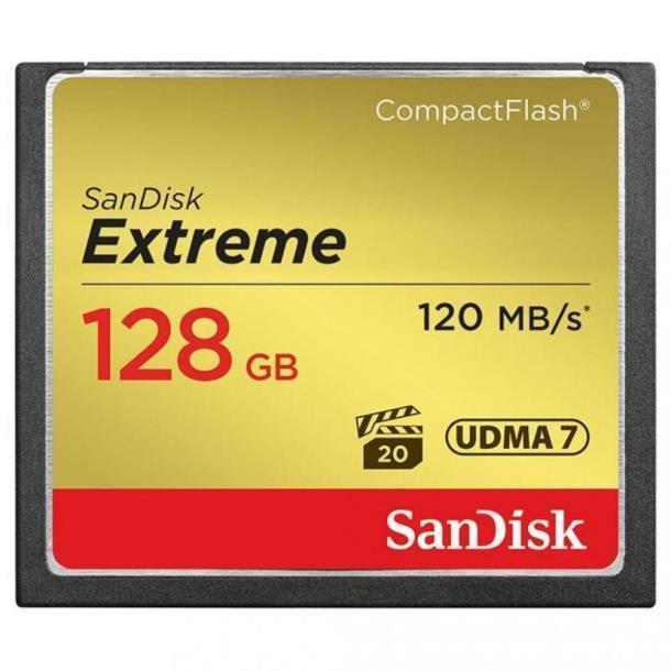 Карта памяти SanDisk 128 GB Extreme CompactFlash SDCFXSB-128G-G46