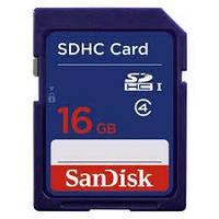 Карта памяти SanDisk 16 GB SDHC class 4 (SDSDB-016G-B35)
