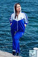"""Спортивный костюм """"Adidas"""" двухцветный батал  № 1175  а.и"""