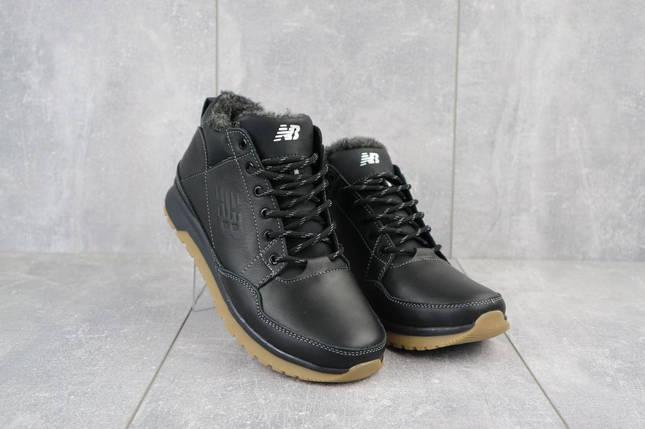 Мужские кроссовки кожаные зимние черные Anser 100, фото 2