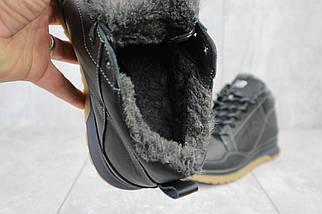 Мужские кроссовки кожаные зимние черные Anser 100, фото 3