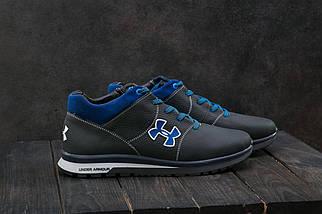 Мужские кроссовки кожаные зимние синие-голубые CrosSAV 121, фото 2