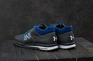 Мужские кроссовки кожаные зимние синие-голубые CrosSAV 121, фото 3
