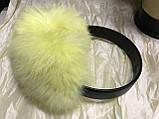 Голубые наушники из меха кролика, фото 6