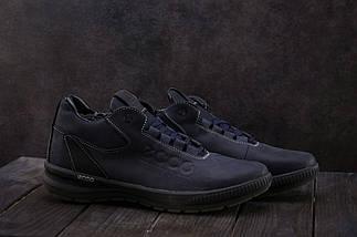 Мужские кроссовки кожаные зимние синие CrosSAV 38, фото 2
