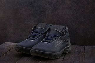 Мужские кроссовки кожаные зимние синие CrosSAV 38, фото 3