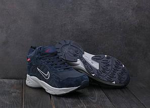 Мужские кроссовки кожаные зимние синие Baas A 2109 -3, фото 3