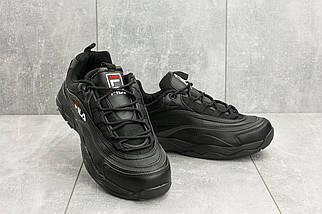 Мужские кроссовки искусственная кожа весна/осень черные Ditof A 116 -15