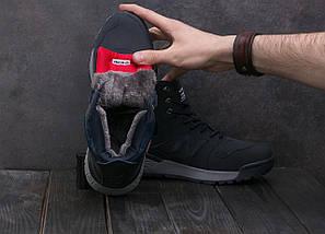 Мужские кроссовки искусственная кожа зимние синие Classica AМ 819 -2 W, фото 2