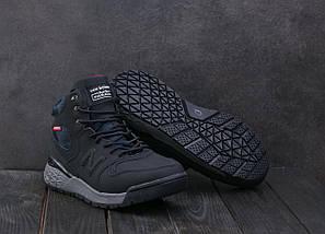 Мужские кроссовки искусственная кожа зимние синие Classica AМ 819 -2 W, фото 3