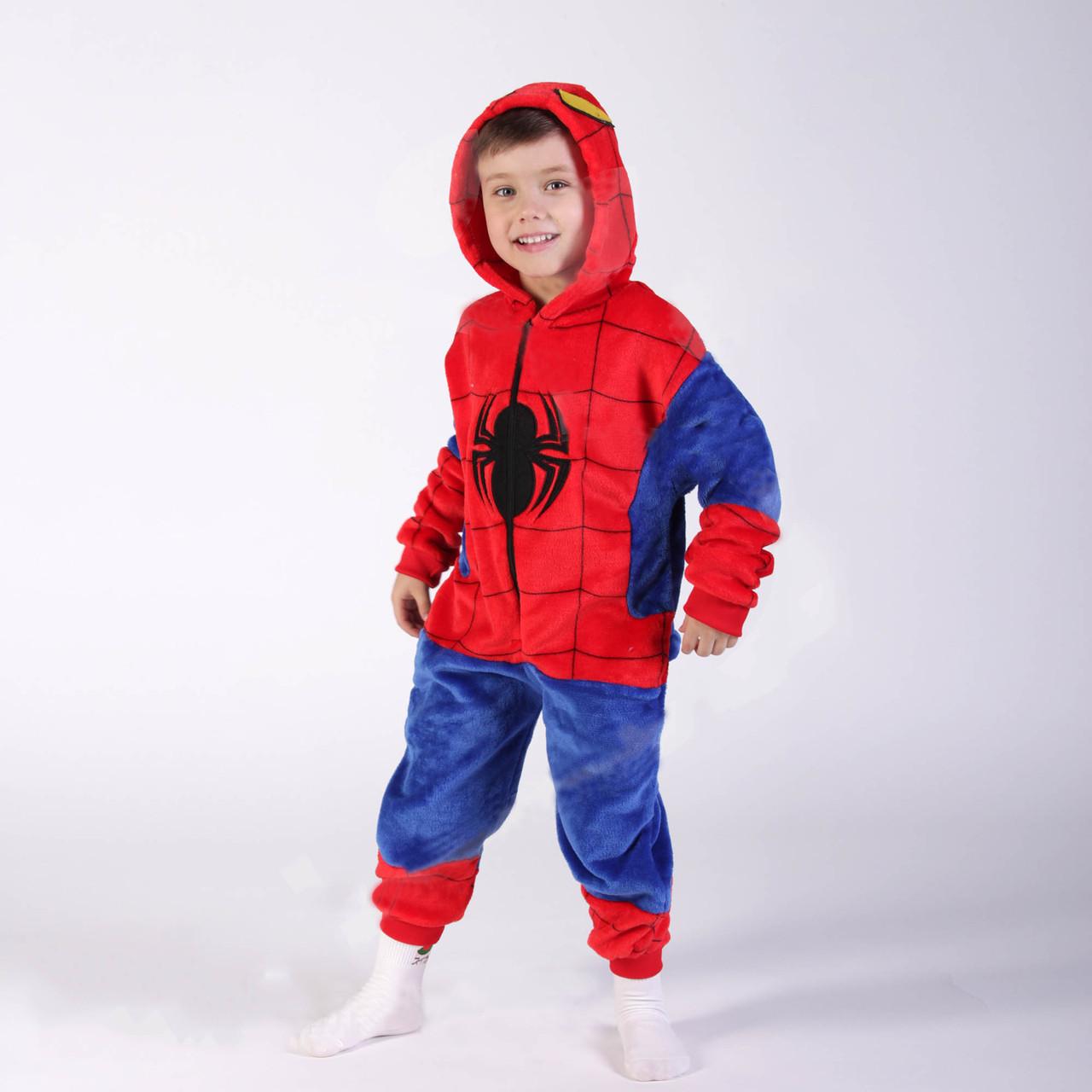 """Кигурумі - """"Людина Павук (Spidermen)"""" - на змійці - Дитячий костюм"""