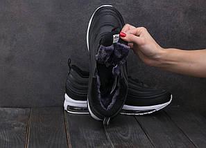 Мужские кроссовки искусственная кожа зимние черные Ditof A 1897 -1, фото 3