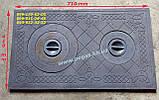 Плита печная чугунная 410х710 мм, печи, мангал, барбекю, грубу, фото 2