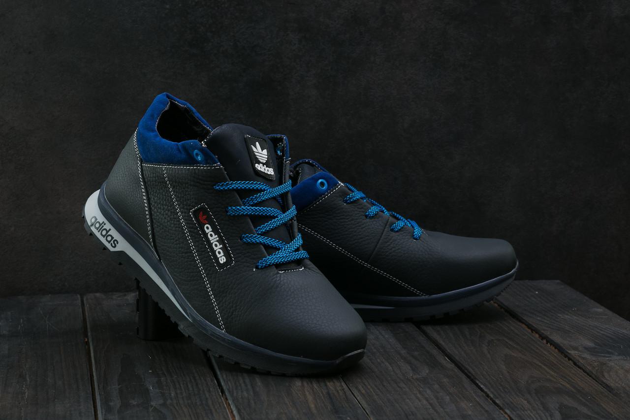 Мужские кроссовки кожаные зимние синие CrosSAV 39