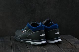 Мужские кроссовки кожаные зимние синие CrosSAV 39, фото 3