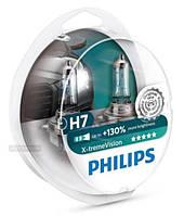 Комплект автоламп  Philips X-tremeVision +130% , H7, 2шт., (12972XV+S2)